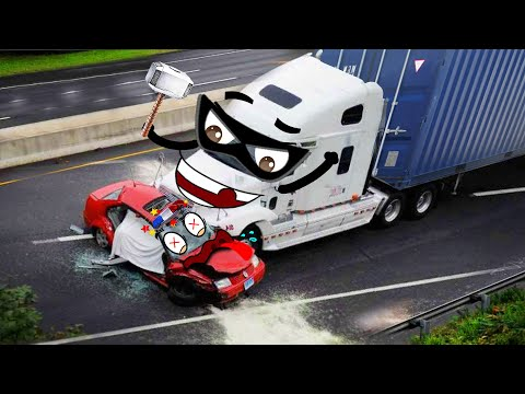 Container Trucks Go Wrong, Crash Police Car | Funny Car Fails Compilation - Woa Doodles