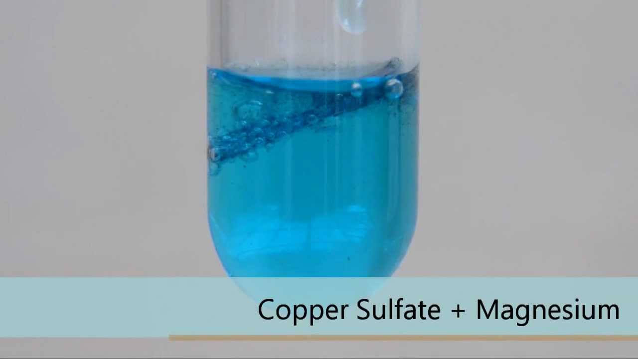 Copper Sulfate + Magnesium - YouTube
