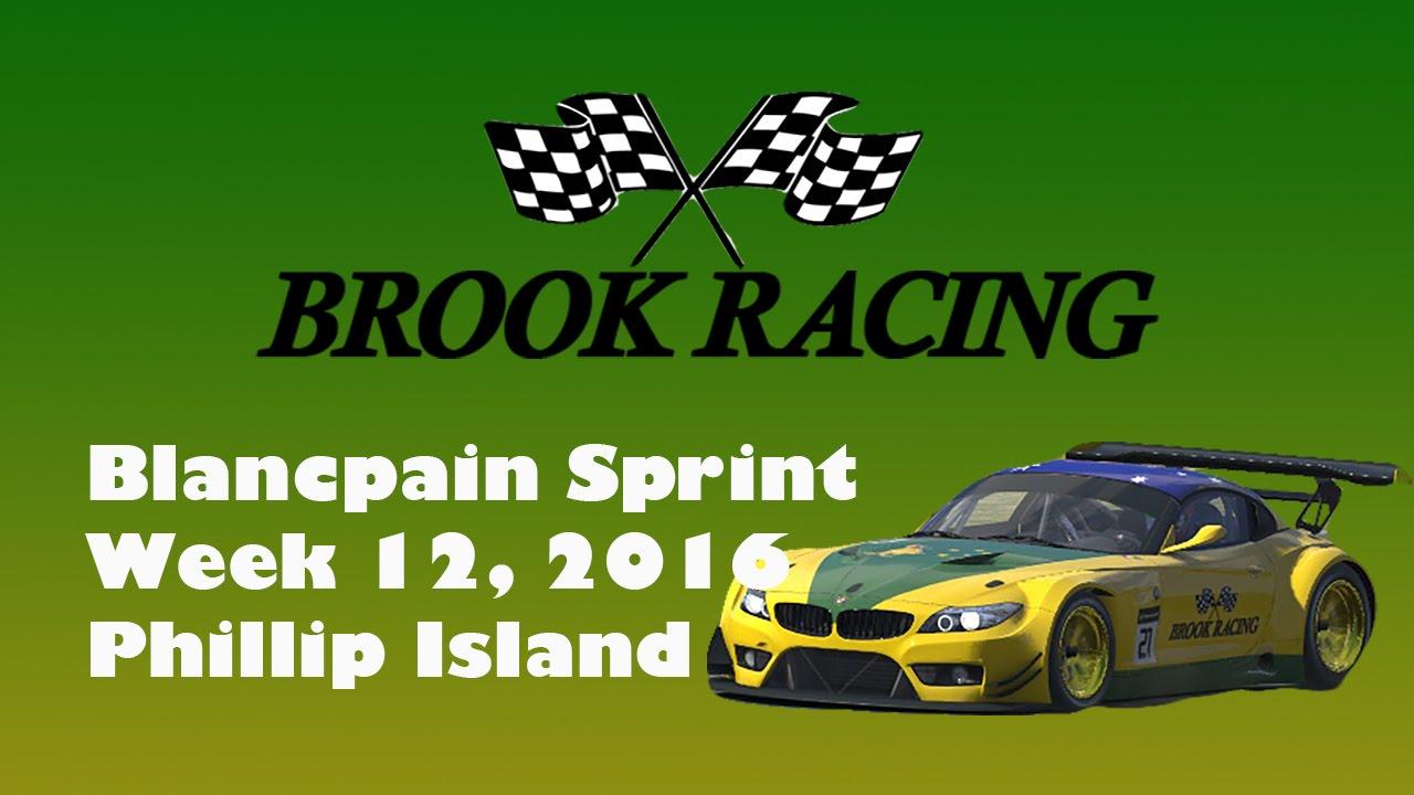 iRacing Blancpain Sprint Series Phillip Island Season 2 2016