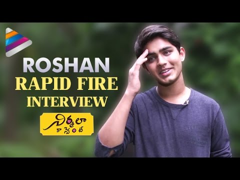 Deepika Padukone is My Crush says Roshan | Rapid Fire Interview | Nirmala Convent Telugu Movie