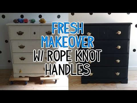 Dresser Makeover W Monkey S Fist Rope Knot Drawer Pulls