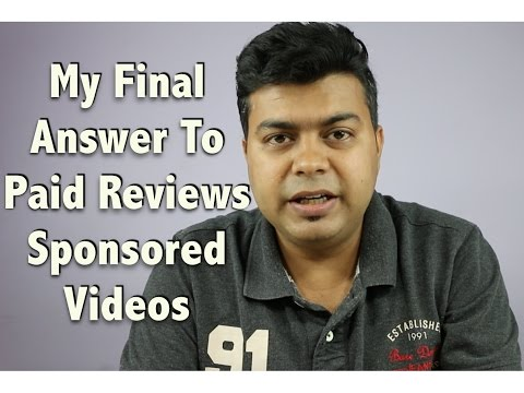Hindi | My Final Answer To Paid, Sponsored Videos, Launch Event Coverage Comments