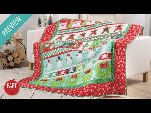 Very Merry Christmas Quiltalong: Part 1 | Annie's Creative Studio| PREVIEW