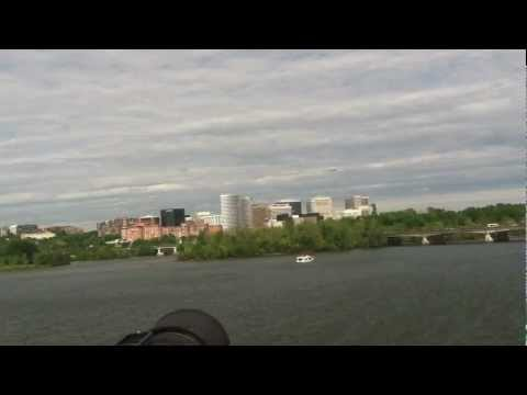 Discovery Flying Over Potomac/Arlington/Memorial Bridge