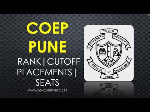 COEP PUNE   Cutoffs   Packages   Seats   Rank   Fees