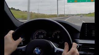 BMW G30 530i 3. Köprü otobanı müzik eşliğinde gazlama