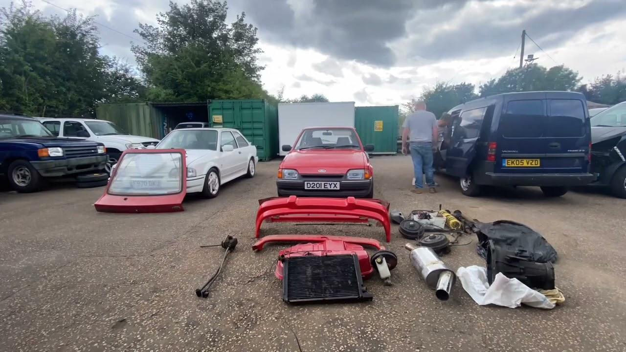 Amazing Garage Find Mk 4 Ford Escort + RS Turbo Parts