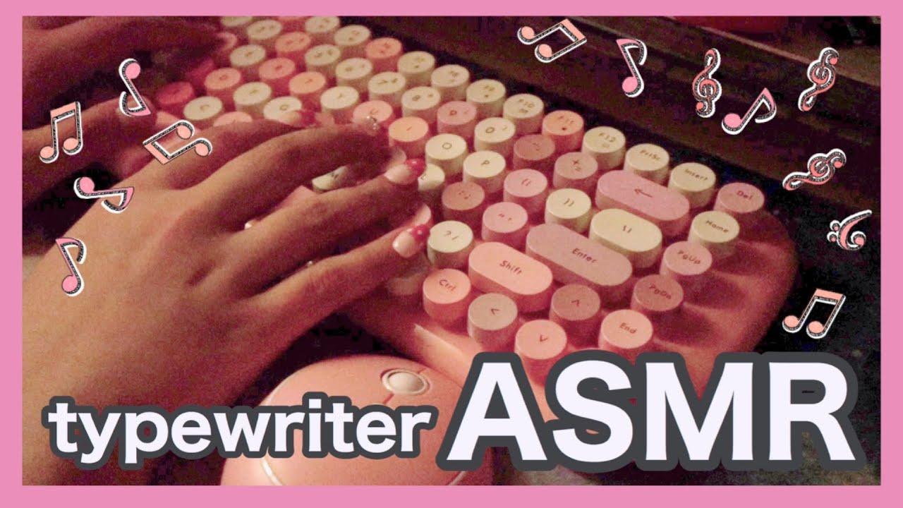 【音フェチ♡ASMR】ピンクで可愛いタイプライター風キーボードのタイピング音【睡眠導入/リラックス/relax pink Typewriter Keyboard typing Sounds/作業用】