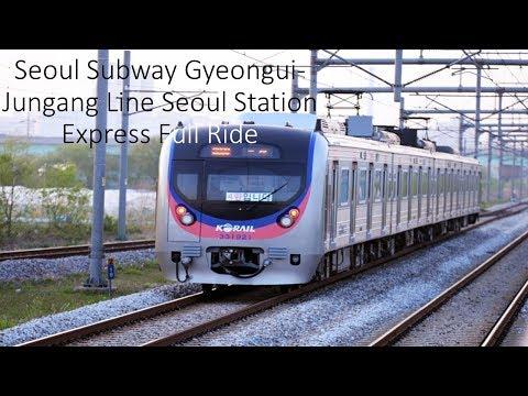 Seoul Subway Gyeongui-Jungang Line Seoul Station Rapid Full Ride 서울지하철 경의중앙선 서울역급행 전구간 주행