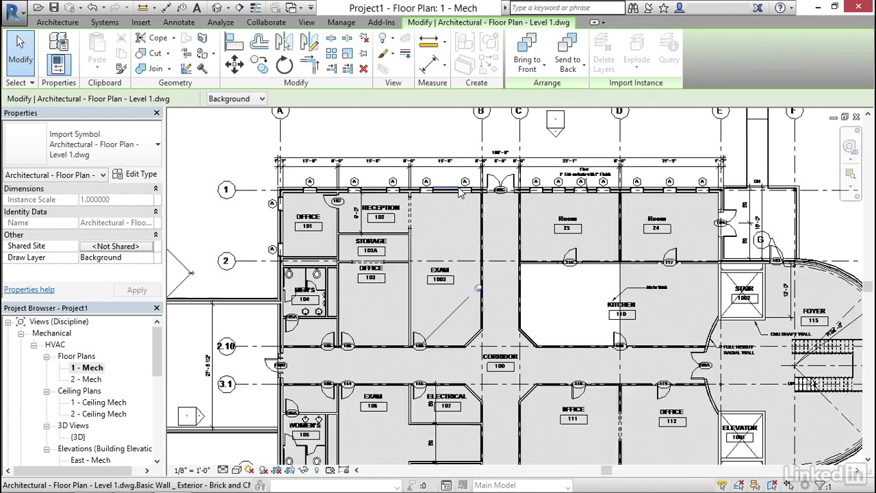 Import AutoCAD files to Revit | Cert Prep: Revit MEP Electrical | LinkedIn  Learning