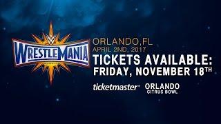wrestlemania 33 tickets on sale friday nov 18