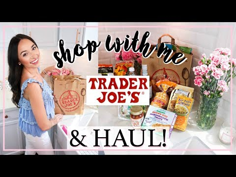 GROCERY SHOP WITH ME AND HAUL! BEST TRADER JOES FOODS! | Alexandra Beuter