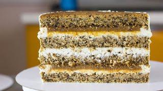 ТОРТ Просто вкусно сочно Рецепт торта с карамелью и ореховым бисквитом Вкусный домашний торт