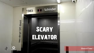 Scary Schindler Service Elevator at Silvercord Tower 1, Hong Kong