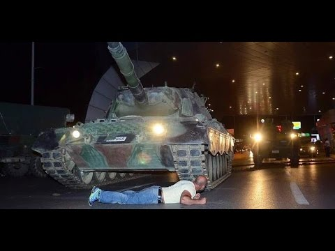 turkish military coup tank running over citizens and. Black Bedroom Furniture Sets. Home Design Ideas
