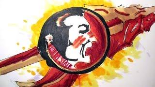 College Logo Series:  Florida State University Seminoles Time Lapse Drawing