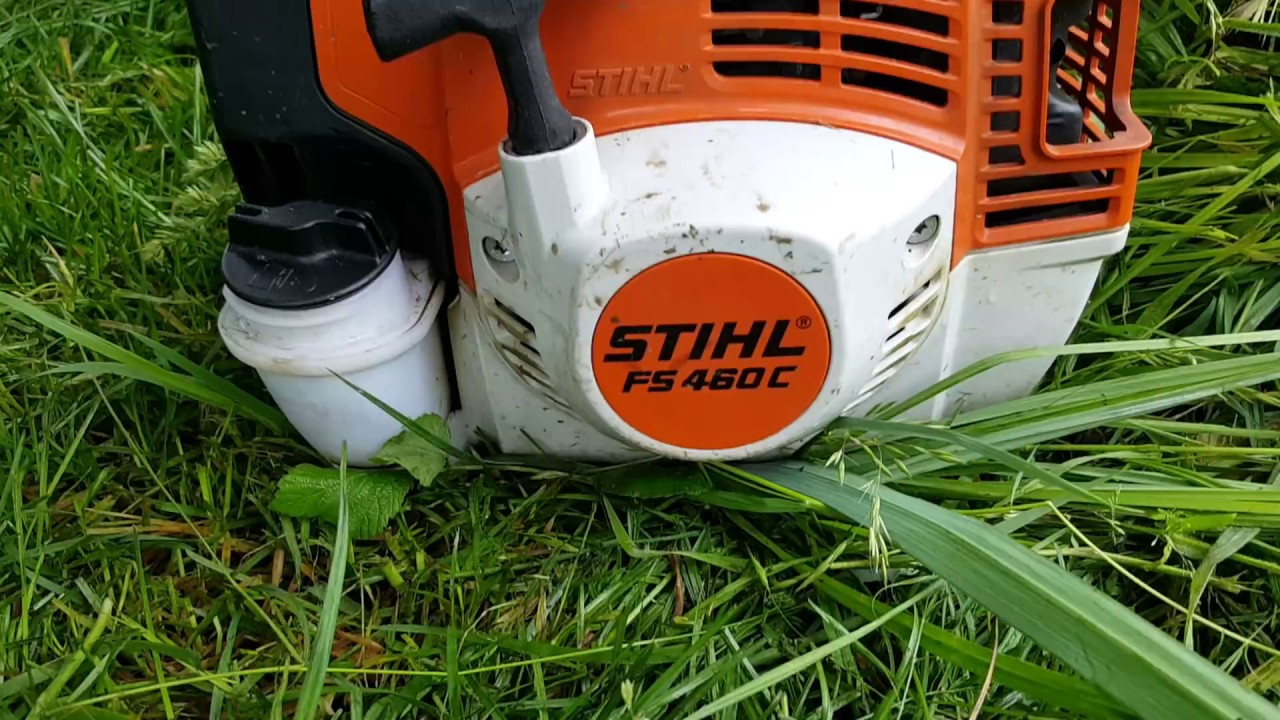 d broussailleuse stihl fs 460c avec couteaux taillis. Black Bedroom Furniture Sets. Home Design Ideas