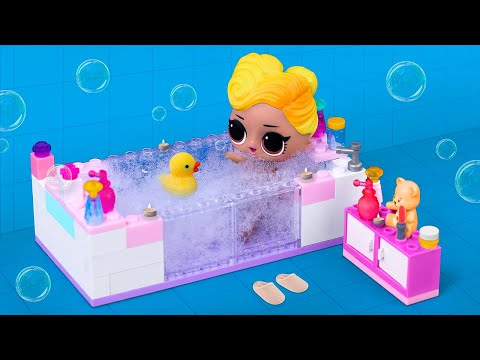 12 DIY LOL Surprise And Barbie Furniture Out Of Lego