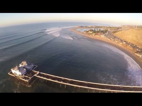 Big Wednesday Surfing in Malibu.  Insane Hurricane Marie swell hits north Los Angeles