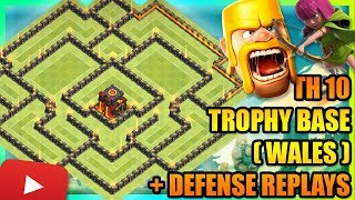 Clash Of Clans - New Town Hall 10 (TH10) Trophy Base + Defense Replays   ANTI 2 STAR   ANTI VALKYRIE