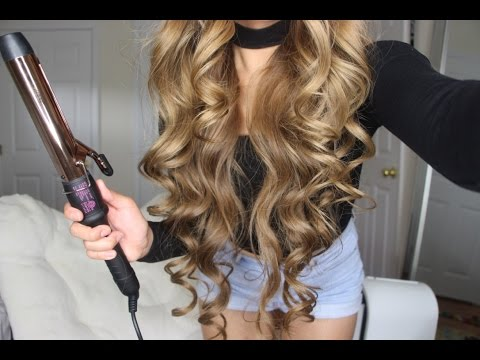 How to get BIG SEXY CURLS Tutorial | Bombay Hair Rose Gold Clamp Curling Wand