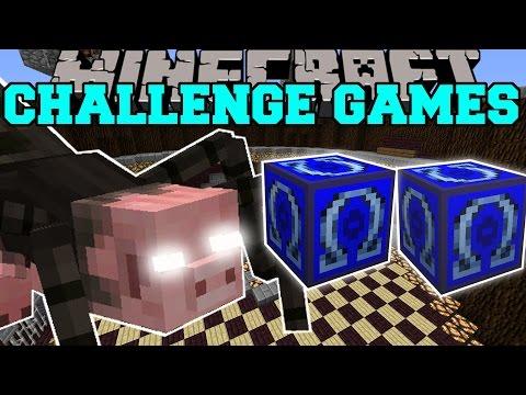 Minecraft: MUTANT SPIDER CHALLENGE GAMES - Lucky Block Mod - Modded Mini-Game