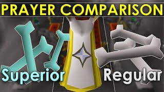 NEW Superior Dragon Bones VS. Regular Dragon Bones [Old School Runescape Comparison]