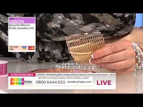 JewelleryMaker LIVE 04/02/14 MORNING SHOW - How to Make Bridal Jewellery