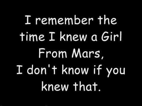 Girl From Mars - Ash (Lyrics)