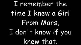 Обложка Girl From Mars Ash Lyrics