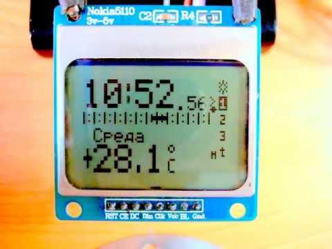 Nokia 5110 LCD Library - YouTube