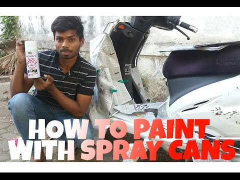 How to paint with spray cans