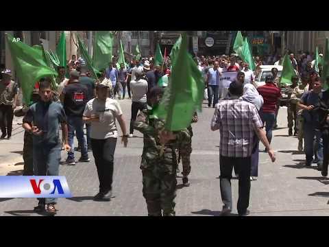 Ủng hộ viên Hamas phản đối kế hoạch sáp nhập của Israel (VOA)