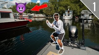 Crazy Lady Kicks Us Out of PUBLIC Marina