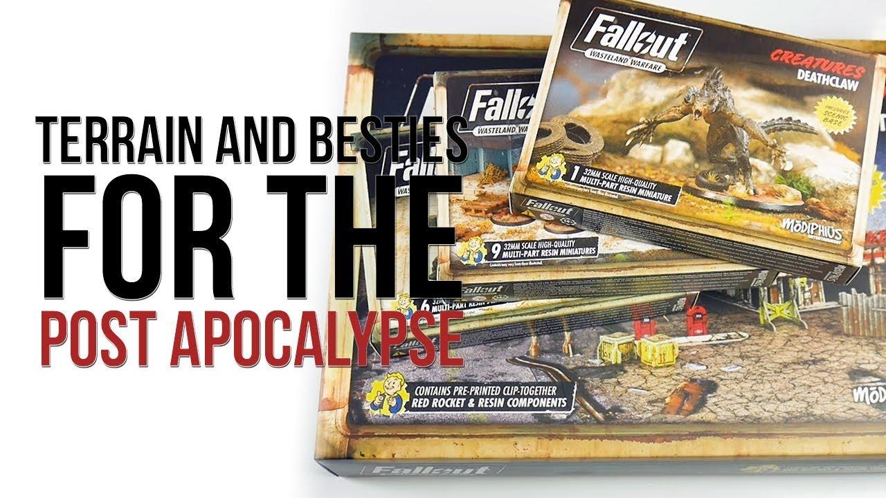Wasteland Warfare Modiphius Entertainment Fallout Red Rocket Scenic Set