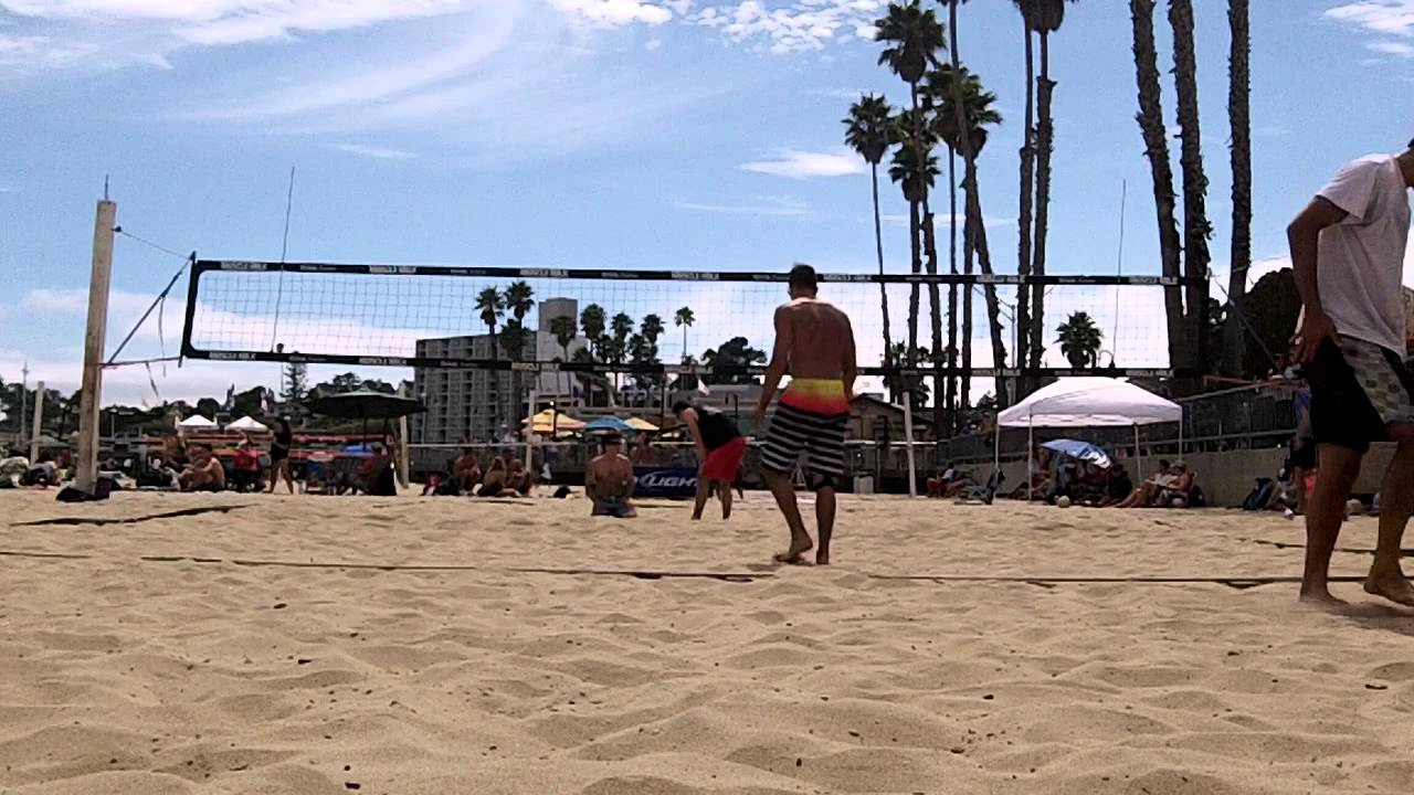 Jeff Steffens Victor Chen Vs Rob Reaugh Nick Manov Beach Volleyball Santa Cruz