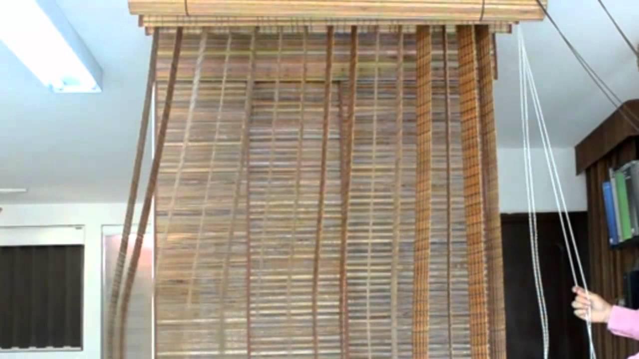 Presianas bambulitas madera youtube - Como colocar las cuerdas de un estor ...