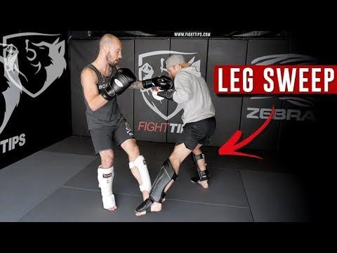 Sweep The Leg! 3 Inside Leg Trips For Kickboxing