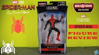 Marvel Legends SPIDER-MAN Black & Red Hero Suit Far From Home Molten Man BAF Wave 12 Figure Review