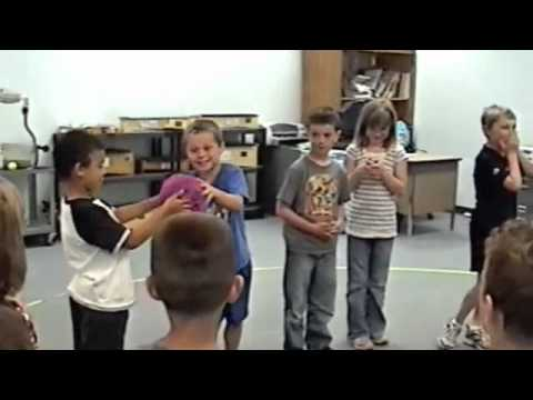 Passing the Ball Cooperative Children Music Game Activity