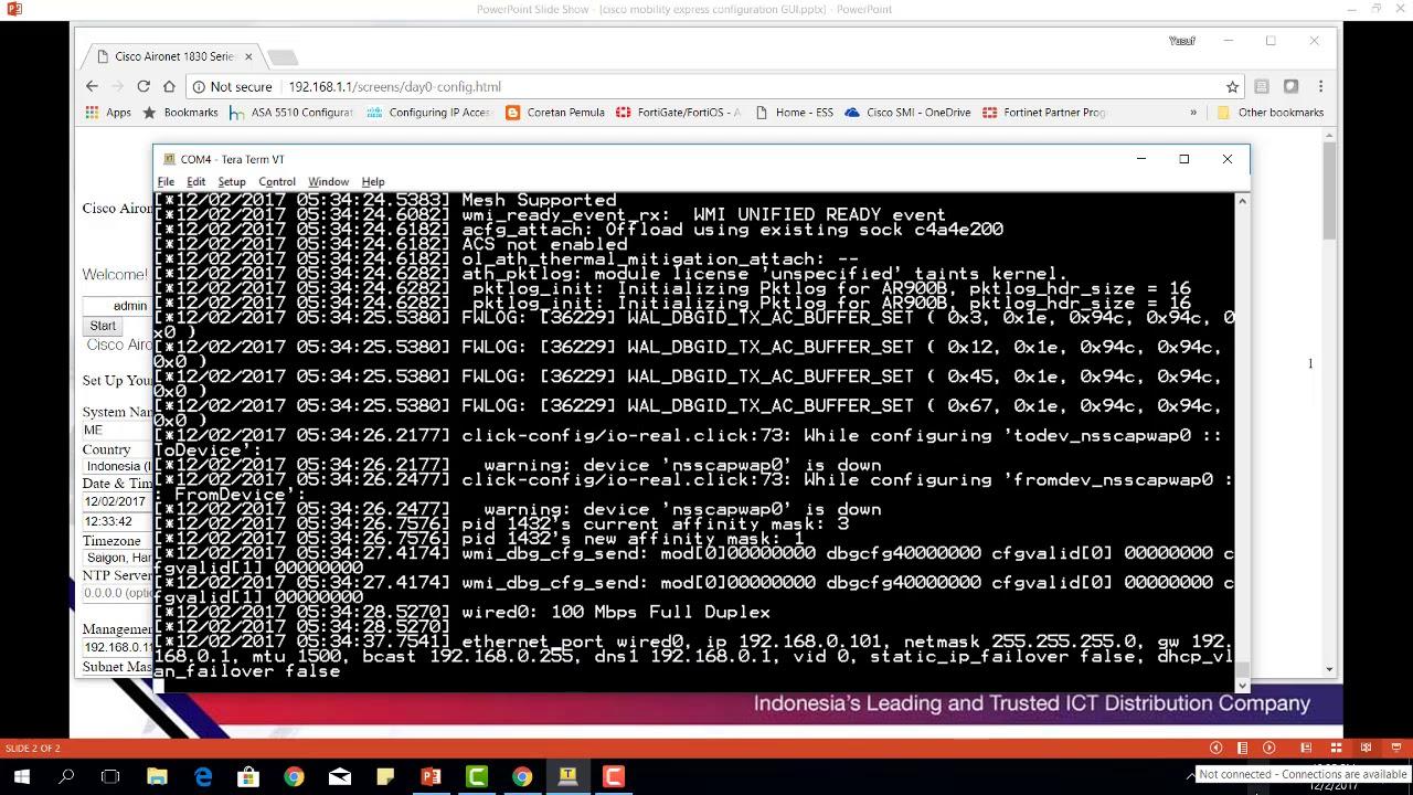 Cisco Mobility Express Configuration GUI - Yusuf Budi Mulia