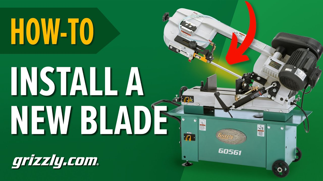 How To Adjust the Wheel & Blade Guides When Installing a New Blade on a  Metal-Cutting Bandsaw