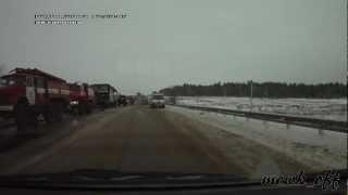 Последствия страшного ДТП 7.01.2013г на трассе М5