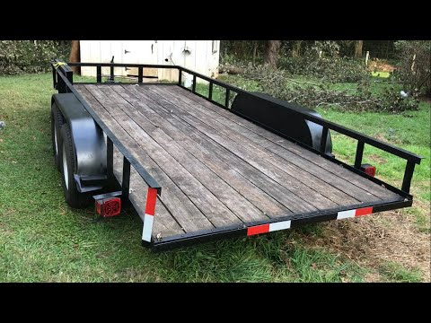 Painting an Utility Trailer with Rustoleum Professional Paint (Before & After)