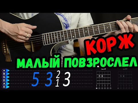 Макс Корж - Малый повзрослел БЕЗ БАРРЭ на гитаре. Разбор от Гитар Ван