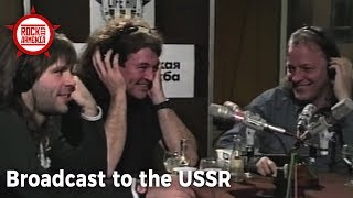 David Gilmour, Ian Gillan & Bruce Dickinson Broadcast to the USSR