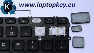 How to install key in keyboard Dell M3800 XPS 15-9530 9530 15-7000 7537 7737 17-7000 17-7737