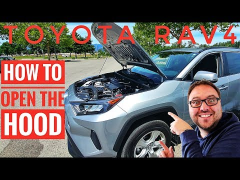 How to Open the Hood on a Toyota Rav4 2019