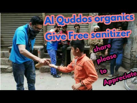 Free Sanitizer,free for everyone,Al Quddus Organics,organic,Lahore,leading Pakistani brand,corona,Al