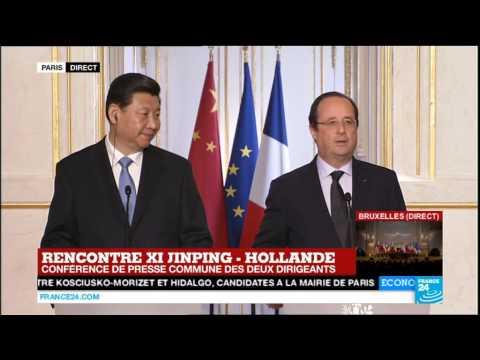 Relations Chine - France : conférence de presse de François Hollande
